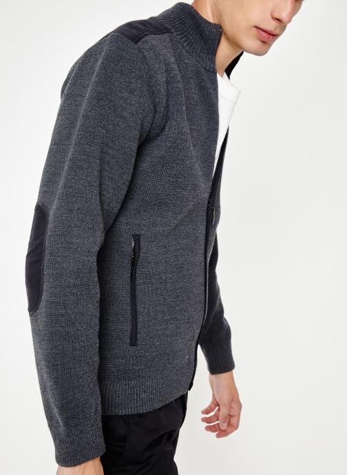 Vêtements Armor Lux Cardigan Carnac Gris vue droite