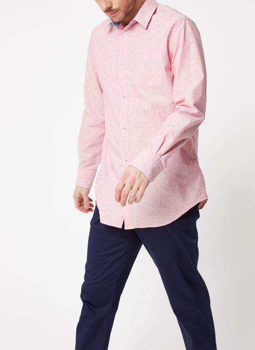 Vêtements Armor Lux Chemise ML Confort Rose vue droite