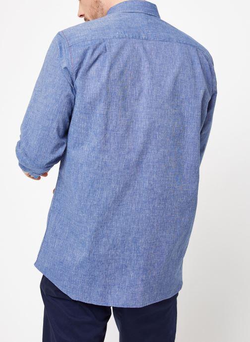 Vêtements Armor Lux Chemise ML Confort Bleu vue portées chaussures