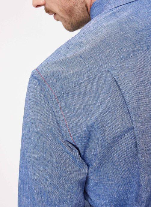 Vêtements Armor Lux Chemise ML Confort Bleu vue face