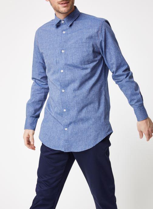 Vêtements Armor Lux Chemise ML Confort Bleu vue droite