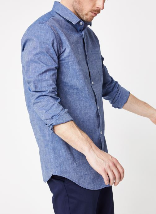 Vêtements Armor Lux Chemise ML Confort Bleu vue détail/paire
