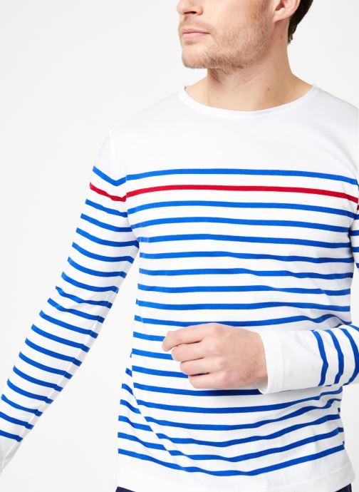 Vêtements Armor Lux Marinière Rempart Blanc vue détail/paire