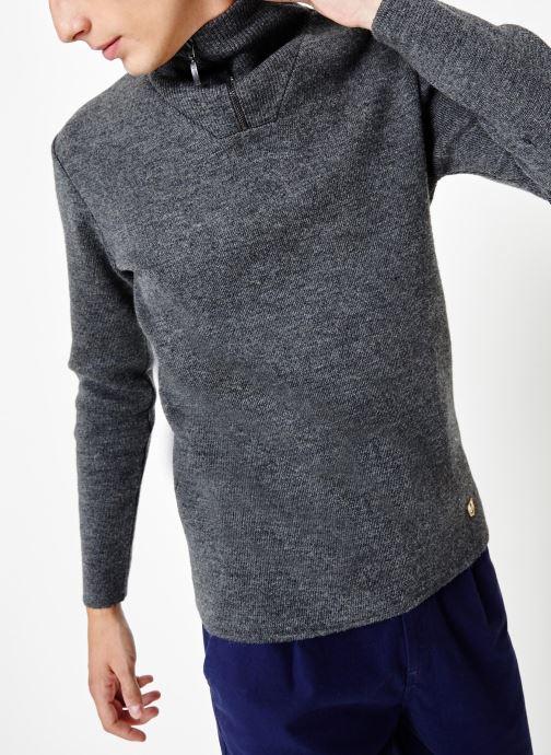 Vêtements Armor Lux Pull Guisseny Gris vue détail/paire