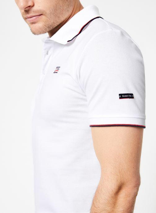 Vêtements Armor Lux Polo Spézet Blanc vue face