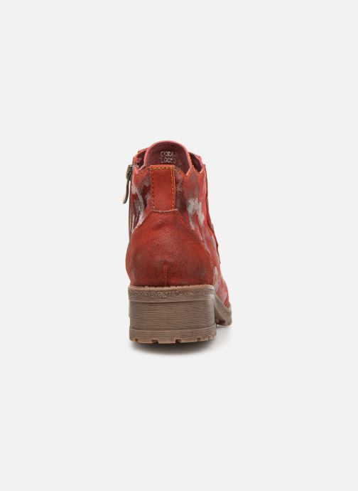 Ankle boots Laura Vita CORAIL 068 Red view from the right