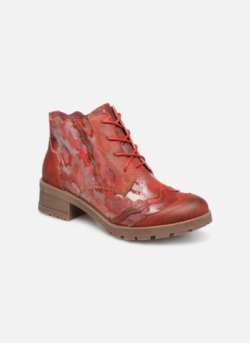 Ankle boots Laura Vita CORAIL 068 Red detailed view/ Pair view