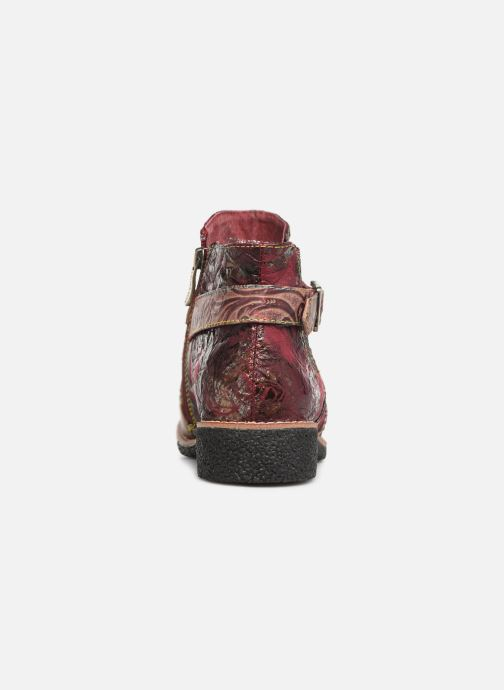 Ankle boots Laura Vita CORALIE 048 Burgundy view from the right