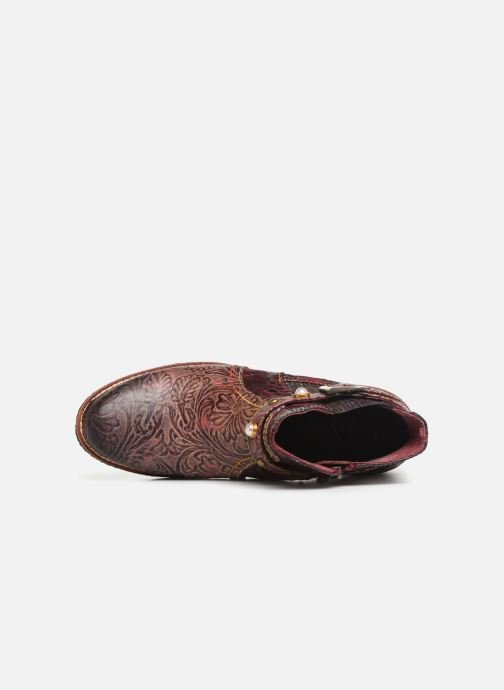 Ankle boots Laura Vita CORALIE 048 Burgundy view from the left