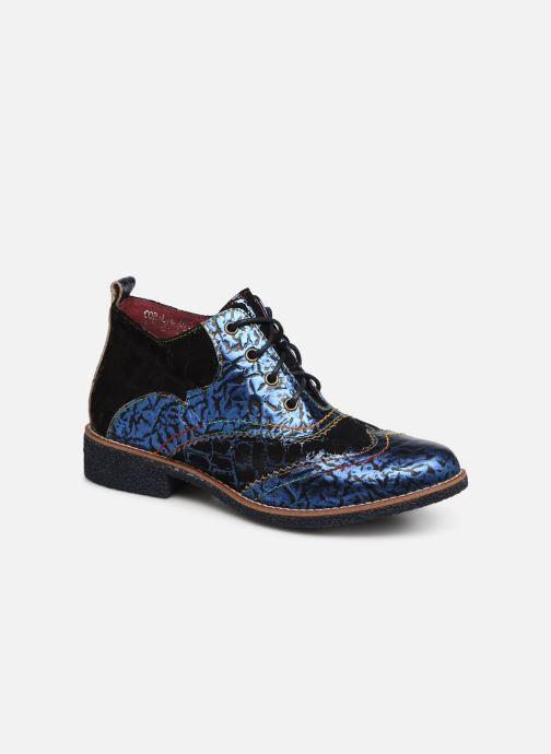 Lace-up shoes Laura Vita CORALIE 078 Blue detailed view/ Pair view