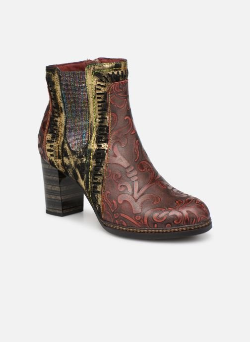 Ankle boots Laura Vita ELEA 02 Burgundy detailed view/ Pair view