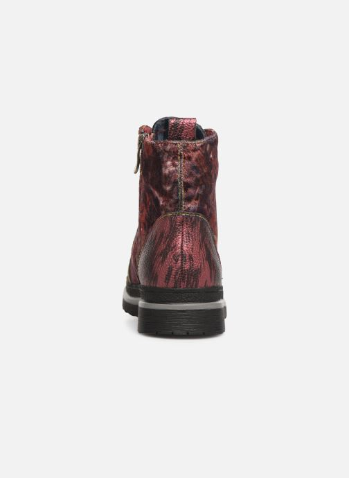 Ankle boots Laura Vita ERICKA 03 Red view from the right