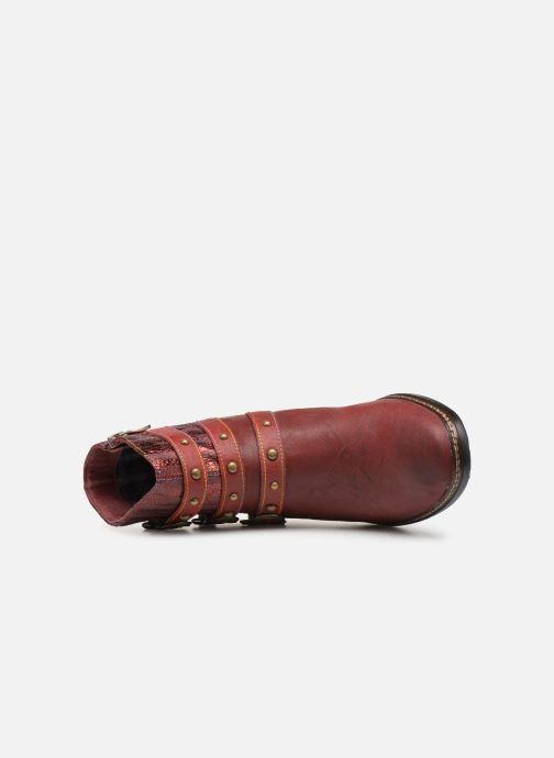 Bottines et boots Laura Vita ERWIN 03 Rouge vue gauche