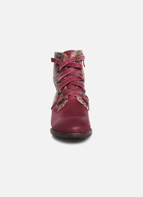 Ankle boots Laura Vita EUDINE 05 Burgundy model view