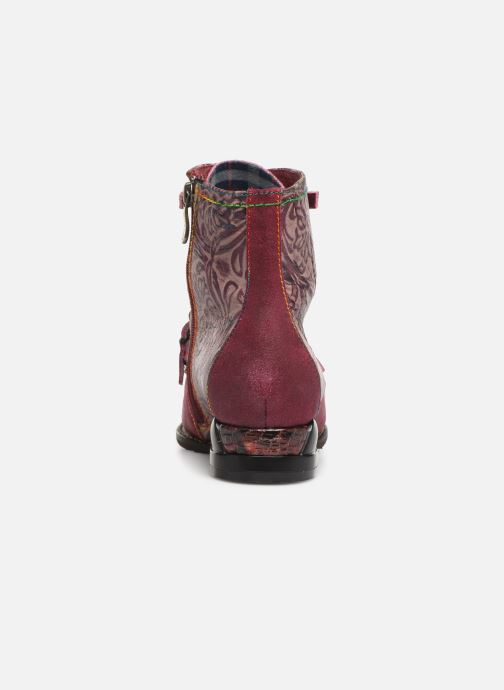 Ankle boots Laura Vita EUDINE 05 Burgundy view from the right
