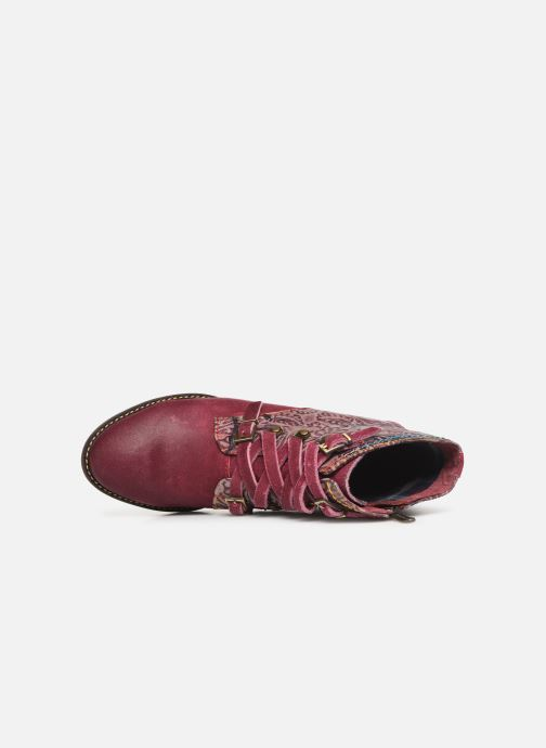 Ankle boots Laura Vita EUDINE 05 Burgundy view from the left