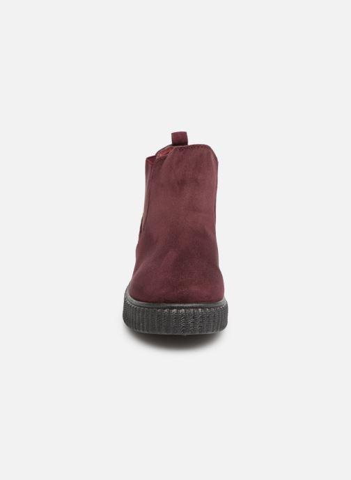 Bottines et boots Les P'tites Bombes ANNABELLE Bordeaux vue portées chaussures