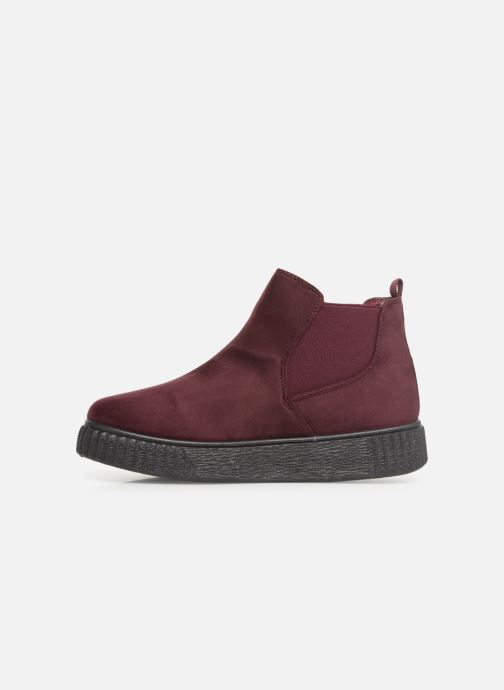 Ankle boots Les P'tites Bombes ANNABELLE Burgundy front view