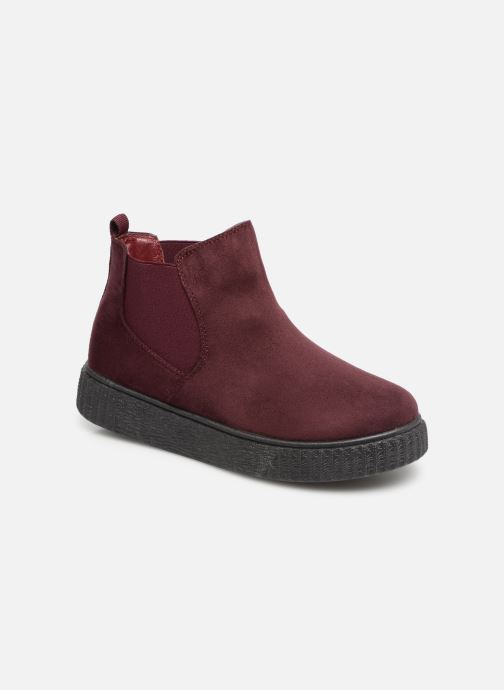 Ankle boots Les P'tites Bombes ANNABELLE Burgundy detailed view/ Pair view