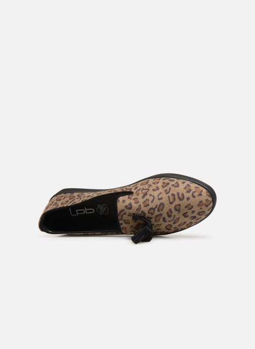 Loafers Les P'tites Bombes FLAVIE Brown view from the left