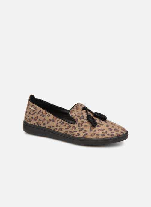 Loafers Les P'tites Bombes FLAVIE Brown detailed view/ Pair view