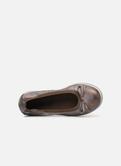 Ballet pumps Les P'tites Bombes ETOILE METAL Bronze and Gold view from the left