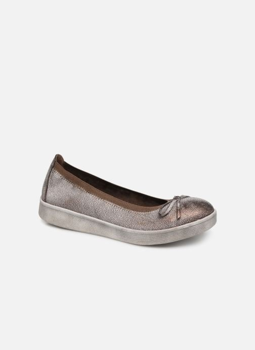 Ballet pumps Les P'tites Bombes ETOILE METAL Bronze and Gold detailed view/ Pair view