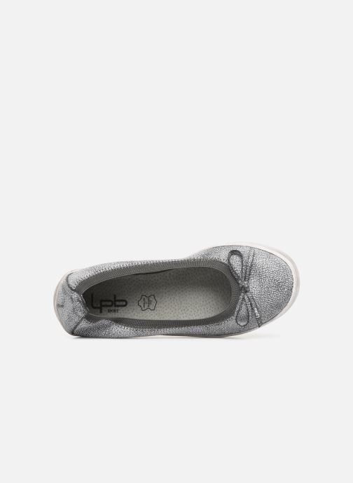 Ballet pumps Les P'tites Bombes ETOILE METAL Grey view from the left