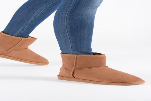 Bottines et boots Les Tropéziennes par M Belarbi Flocon new Noir vue bas / vue portée sac