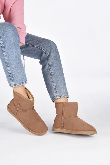 Ankle boots Les Tropéziennes par M Belarbi Flocon new Brown view from underneath / model view