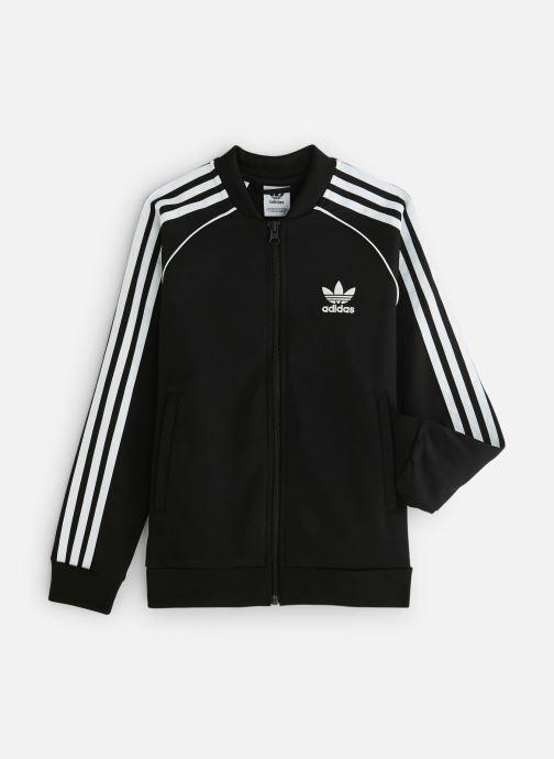 Vêtements adidas originals Superstar Top J Noir vue détail/paire