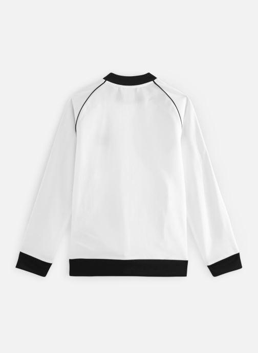 Vêtements adidas originals Superstar Top J Blanc vue bas / vue portée sac