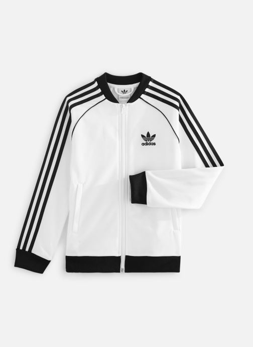 Vêtements adidas originals Superstar Top J Blanc vue détail/paire