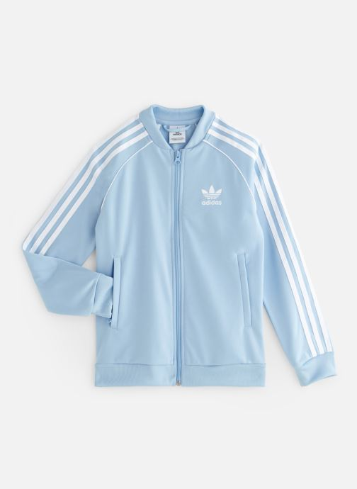 Vêtements adidas originals Superstar Top J Bleu vue détail/paire