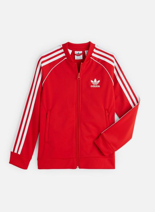 Vêtements adidas originals Superstar Top J Rouge vue détail/paire