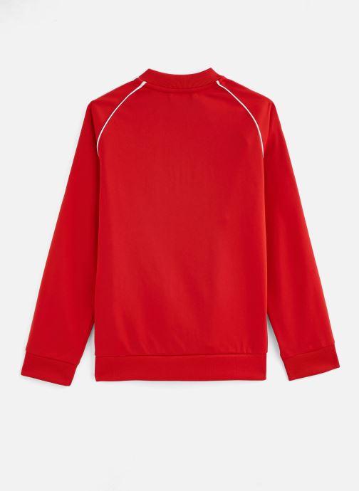 Vêtements adidas originals Superstar Top J Rouge vue bas / vue portée sac