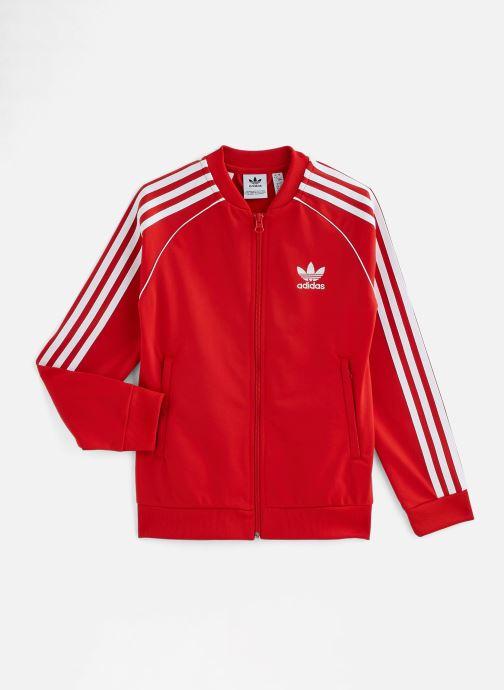 Vêtements adidas originals Superstar Top J Rouge vue détail/paire