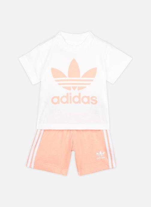 Kleding adidas originals Short Tee Set I Roze detail