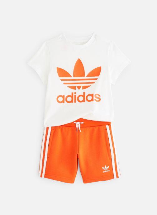 Kleding adidas originals Short Tee Set K Oranje detail