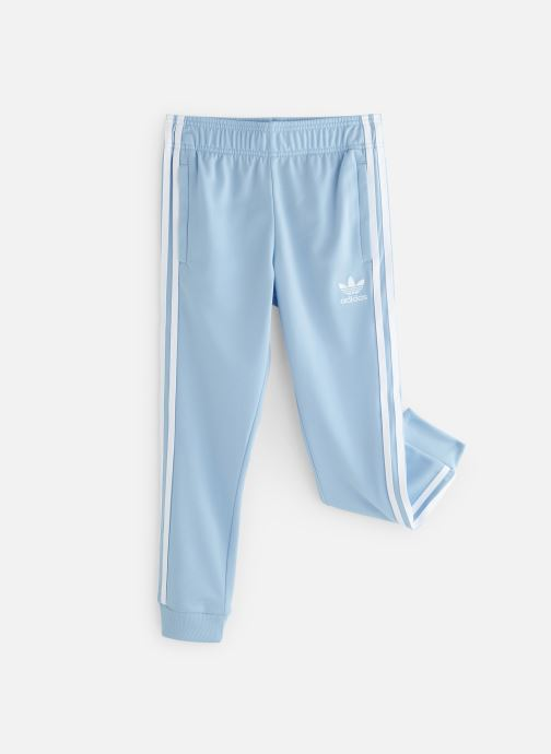 Vêtements adidas originals Superstar Pants J Bleu vue détail/paire