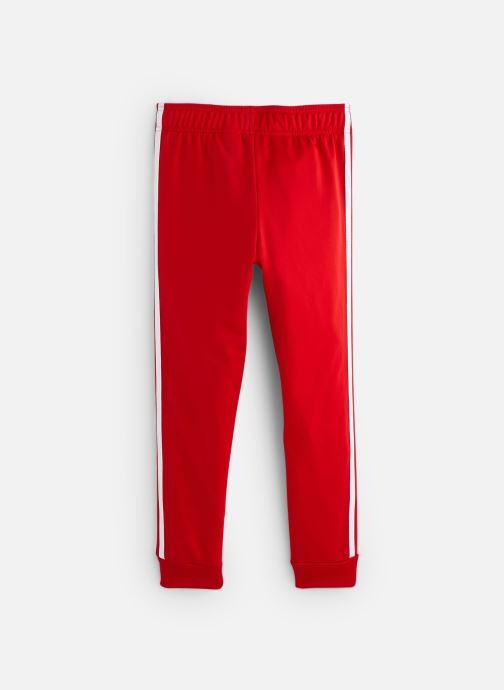Vêtements adidas originals Superstar Pants J Rouge vue bas / vue portée sac