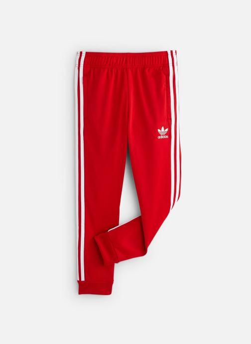 Vêtements adidas originals Superstar Pants J Rouge vue détail/paire