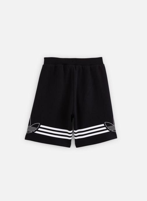 Vêtements adidas originals Outline Shorts J Noir vue bas / vue portée sac