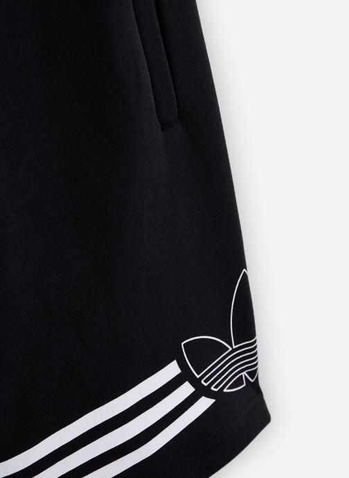 Vêtements adidas originals Outline Shorts J Noir vue portées chaussures