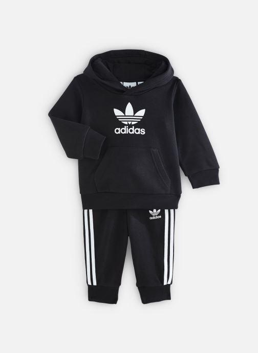 Vêtements adidas originals Trefoil Hoodie I Noir vue détail/paire