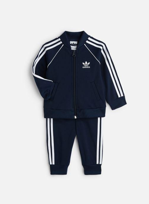 Vêtements adidas originals Superstar Suit I Bleu vue détail/paire