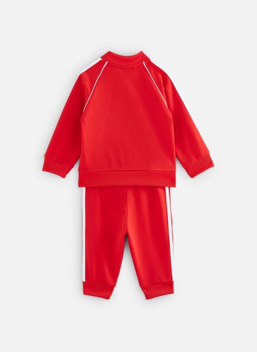 Vêtements adidas originals Superstar Suit I Rouge vue bas / vue portée sac