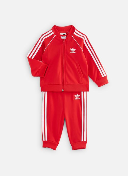 Vêtements adidas originals Superstar Suit I Rouge vue détail/paire