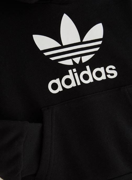 Vêtements adidas originals Trefoil Hoodie K Noir vue portées chaussures