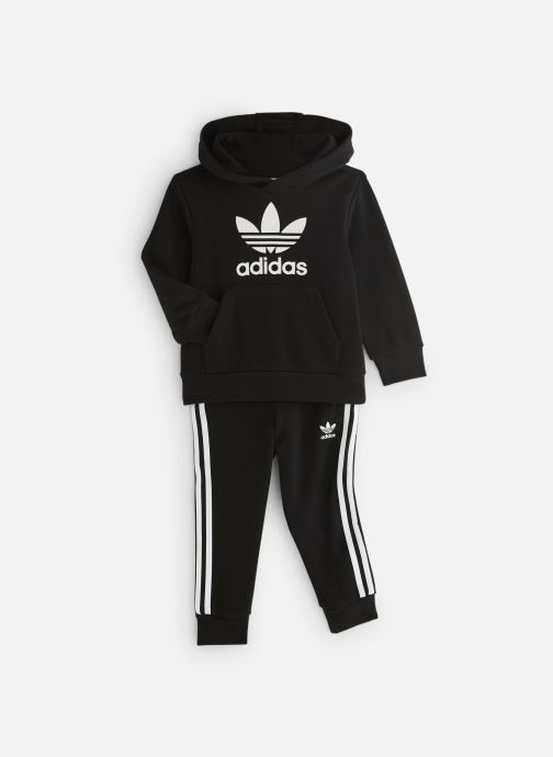 Kleding adidas originals Trefoil Hoodie K Zwart detail